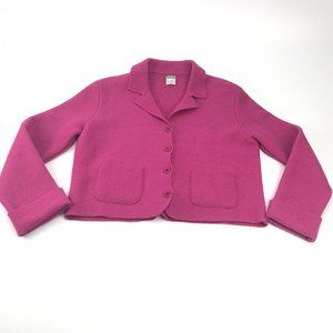 Vtg United Colors of Benetton purple wool cardigan